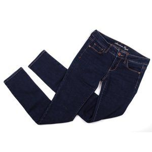 American Eagle Low Rise Skinny Dark Jeans Size 4